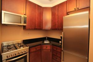 A kitchen or kitchenette at Radio City Apartments
