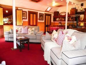 A seating area at Madam Saddler - On Fraser Clunes