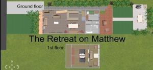The floor plan of The Retreat on Matthew