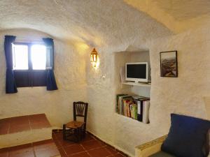 Zona de estar de Casa Cueva Guadix