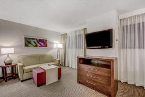A television and/or entertainment center at Homewood Suites by Hilton Indianapolis Carmel