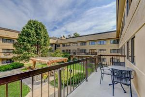A balcony or terrace at Homewood Suites by Hilton Indianapolis Carmel