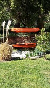 Ein Garten an der Unterkunft Chambres d'hôtes chez Pierrot et Flo