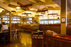 A restaurant or other place to eat at Colter Bay Village