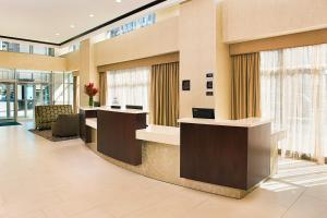 The lobby or reception area at Homewood Suites Dallas Downtown