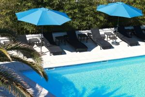 The swimming pool at or close to Eurotel Parc Expo Airport Montpellier