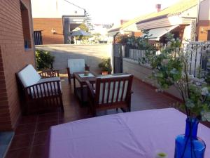 A balcony or terrace at Chalet Miralles