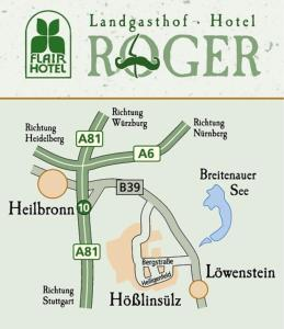 A bird's-eye view of Flair Hotel Landgasthof Roger
