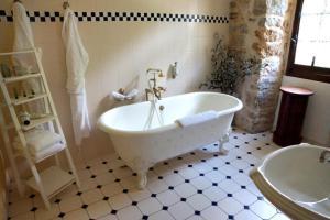 A bathroom at Chateau De La Caze