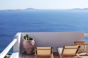 Vue générale sur la mer ou vue sur la mer prise depuis la maison de vacances
