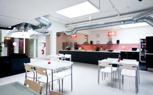 En restaurang eller annat matställe på Stockholm Hostel
