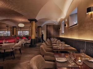 A restaurant or other place to eat at Malmaison Glasgow
