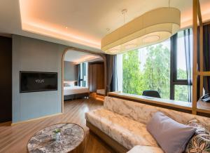 A seating area at Volve Hotel Bangkok