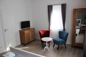 Ein Sitzbereich in der Unterkunft Haus im Donautal