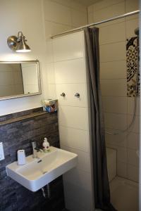 Ein Badezimmer in der Unterkunft Haus im Donautal