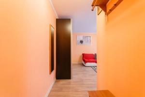 Телевизор и/или развлекательный центр в Business Brusnika Apartments Taganskaya
