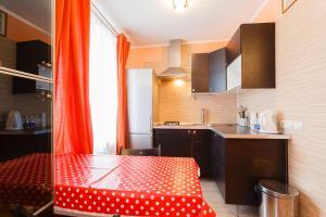 Кухня или мини-кухня в Business Brusnika Apartments Taganskaya