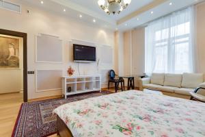 Кровать или кровати в номере Dream House Novy Arbat