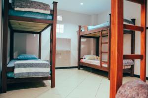 A bunk bed or bunk beds in a room at Lake View Hostel