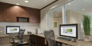 The business area and/or conference room at Hilton Garden Inn Austin Airport