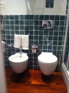 A bathroom at Affittacamere La Stazione