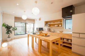 木蘭旅館廚房或簡易廚房
