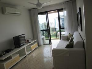 A seating area at Apartamento Lucio Costa