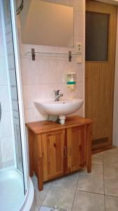 Koupelna v ubytování Pension Čáda