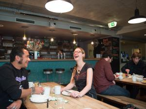 A restaurant or other place to eat at Wombat's The City Hostel Munich Hauptbahnhof