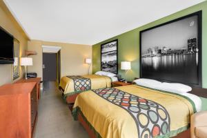 スーパー 8 バージニア ビーチ オーシャンフロントにあるベッド