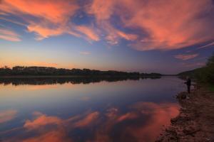Вид на восход или закат из санатория или места поблизости