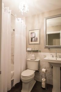 A bathroom at 3 West Club