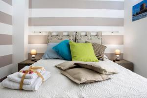 Letto o letti in una camera di B&B Cinisi Mare e Monti