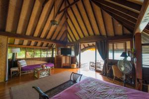 A seating area at Bora Bora Bungalove