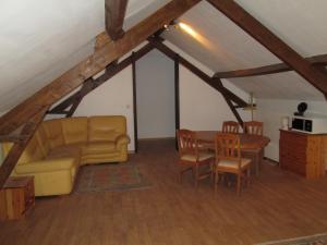A seating area at La Ferme de la Petite Noé
