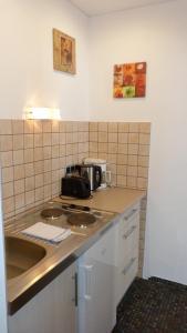 A kitchen or kitchenette at Hotel Apartment Rothensteiner