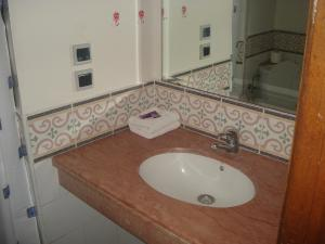 A bathroom at Flathotel
