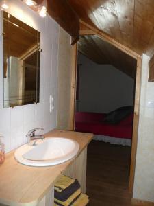 Salle de bains dans l'établissement Au doux Doubs
