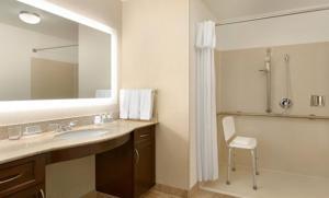 A bathroom at Homewood Suites by Hilton Las Vegas Airport