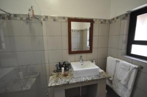 A bathroom at Witsieshoek Mountain Lodge