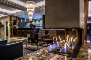 Hall ou réception de l'établissement Van der Valk Palace Hotel Noordwijk