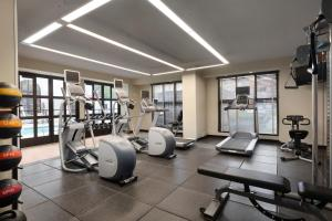 The fitness center and/or fitness facilities at Hilton Garden Inn Cupertino
