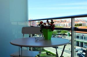 A balcony or terrace at Hotel Apolo