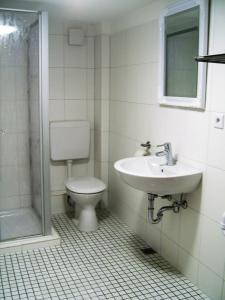 Ein Badezimmer in der Unterkunft Ferienhaus Zum Amthof