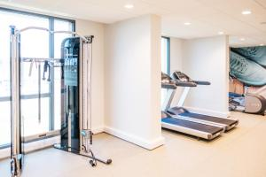 The fitness centre and/or fitness facilities at Hampton By Hilton Aberdeen Westhill