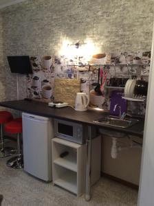 Кухня или мини-кухня в Студии Маджента