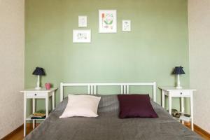 Кровать или кровати в номере Shaulis Apartment on Rustaveli 60