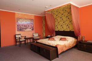 Кровать или кровати в номере Гостиница Ковчег