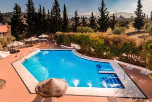 A view of the pool at Hotel Alixares or nearby