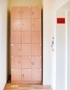 A bathroom at Klaipeda Hostel